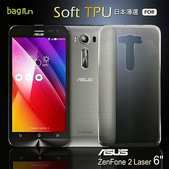 Bagrun Zenfone 2 Laser (6吋) 日本薄選[不沾黏]TPU手機保護套
