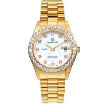 奧林比亞之星 Olympia Star-經典晶鑽錶(金色39mm) 893271DK