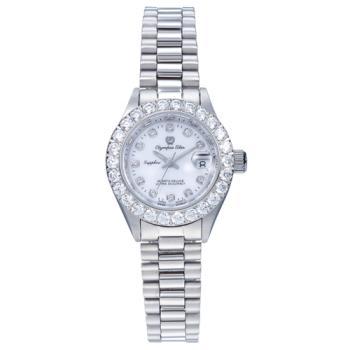 奧林比亞之星 Olympia Star-經典晶鑽錶(白金色28mm)683271DW