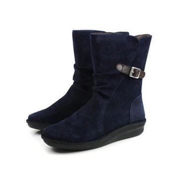 Kimo 靴子 藍 女款 no435