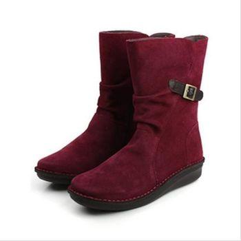 Kimo 靴子 紅 女款 no436