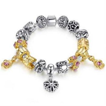 【米蘭精品】潘朵拉元素串珠手鍊925純銀時尚配件
