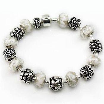 【米蘭精品】925純銀手鍊潘朵拉元素串珠琉璃飾品
