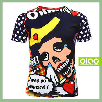 【CIAO TAIWAN】男女款 原創潮流設計T恤 Coolmax吸溼排汗/抗UV衫-骷髏女超人