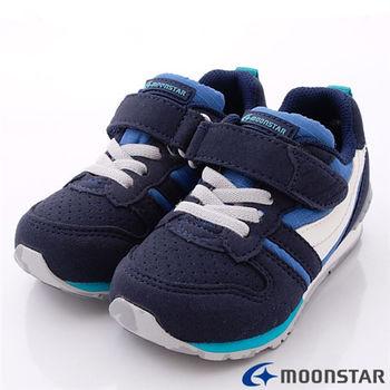 日本月星Carrot機能童鞋-後腳腫穩定防傾系統-CR2121N5藍(15~21cm)