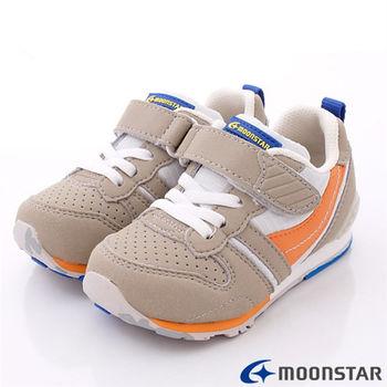 日本月星Carrot機能童鞋-後腳腫穩定防傾系統-CR2121N1卡其(15~21cm)
