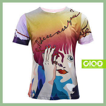 【CIAO TAIWAN】男女款 原創潮流設計T恤 Coolmax吸溼排汗/抗UV衫-命運之索