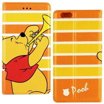 【Disney】iPhone 6/6s 音樂系列 隱磁側掀皮套-維尼