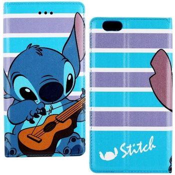 【Disney】iPhone 6/6s 音樂系列 隱磁側掀皮套-史迪奇