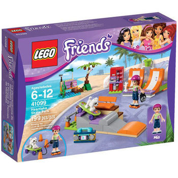 【LEGO 樂高積木】Friends 好朋友系列 - 心湖城滑板公園 LT 41099