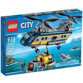 【LEGO 樂高積木】City 城市系列 - 深海探險直升機 LT 60093
