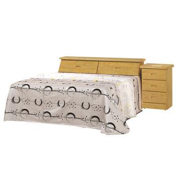 時尚屋 [G16]赤陽木6尺加大雙人床G16-062-2+059-4不含床頭櫃-床墊