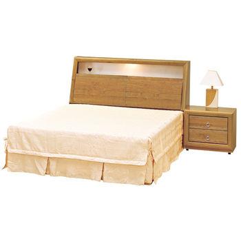 時尚屋 [G16]正赤陽木6尺加大雙人床G16-059-3+059-4不含床頭櫃-床墊