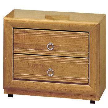 時尚屋 [G16]正赤陽木2尺床頭櫃G16-059-5