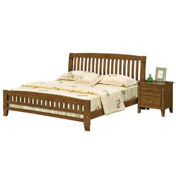 時尚屋 [G16]巴比倫6尺黃檀實木加大雙人床G16-053-2不含床頭櫃-床墊