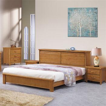 時尚屋 [G16]愛莉絲6尺柚木加大雙人床G16-051-2不含床頭櫃-床墊
