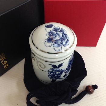 【青花皇后楊莉莉】陶瓷茶葉罐-白金