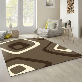 【范登伯格】阿爾發灰色魅力地毯-漩渦(咖)-140x200cm