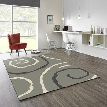 【范登伯格】阿爾發灰色魅力地毯-漩渦-140x200cm
