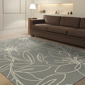 【范登伯格】阿爾發灰色魅力地毯-絲花-140x200cm