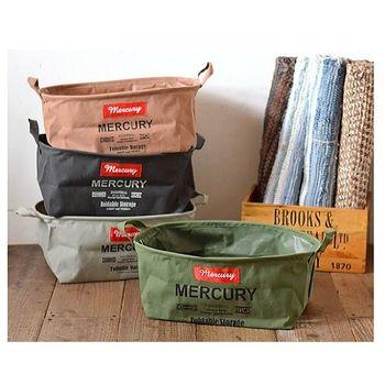 日本 MERCURY 復古 露營居家 多功能 防水收納袋 - 長方形 S (共4色)