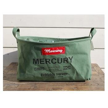 日本 MERCURY 復古 露營居家 多功能 防水收納袋 - 長方形 M (共4色)