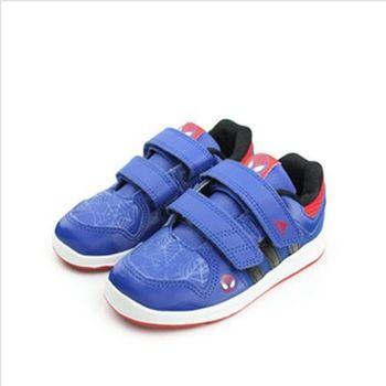 adidas Spider-Man 休閒鞋 藍 小童 no174