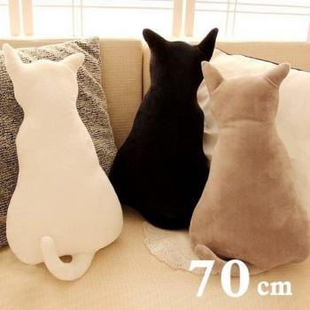 療癒系背影貓咪抱枕靠墊 70CM