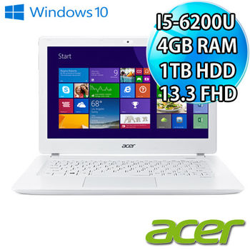 ACER 宏碁 V3-372 公主白 13吋FHD 第六代I5  1TB 新款輕薄筆電 純淨白