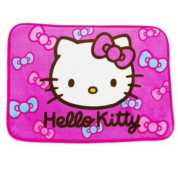 Kitty蝴蝶結-粉 居家防滑腳踏墊