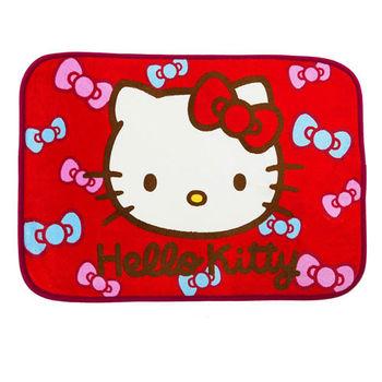 Kitty蝴蝶結-紅 居家防滑腳踏墊