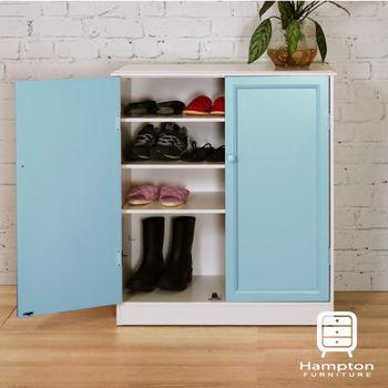 漢妮Hampton安琪拉雙門鞋櫃免組裝(四色可選)鞋櫃.櫃子.置物櫃