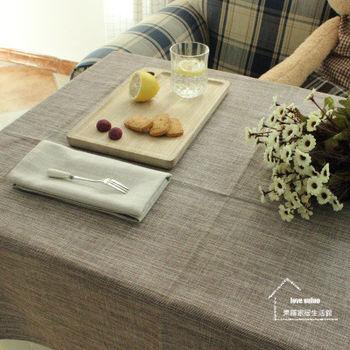 【協貿】時尚簡約百搭棉麻素色咖啡桌布
