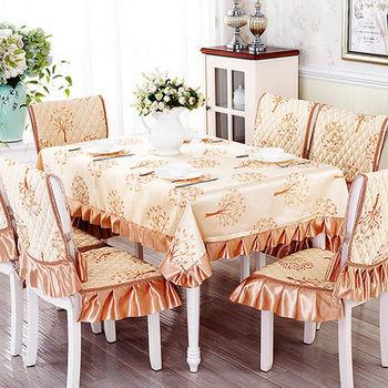 【協貿】高檔精美面料褶子花邊親情樹桌布