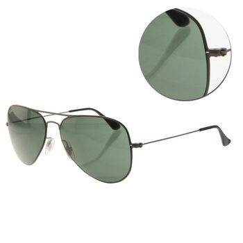 【Ray Ban】超輕型墨綠霧灰框太陽眼鏡(RB3513 147/71)