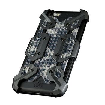 CORESUIT NEWTYPE 輕裝甲金屬飾板+iPhone6 /6s 手機殼-槍色