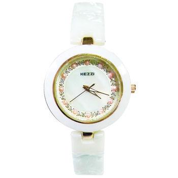 【KEZZI】珍珠造型計時時尚優雅女錶