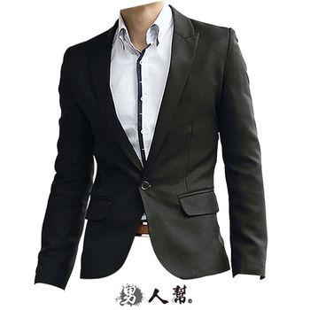 【男人帮】日系千鸟格长袖西装外套(C5325) -