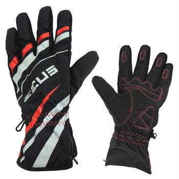 ZEUS 超透氣防水輕綿保暖手套 L-紅色 ZS-03