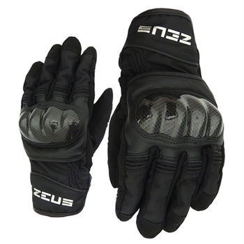 ZEUS 拳眼立體碳纖防摔手套 L-黑色 ZS-07