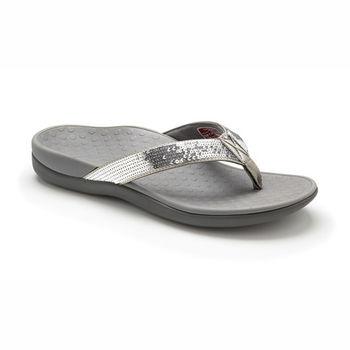 【美國VIONIC法歐尼】健康美體時尚鞋 Islander-愛斯蘭登(亮片款-銀色)
