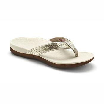 【美國VIONIC法歐尼】健康美體時尚鞋 Islander-愛斯蘭登(亮片款-金色)