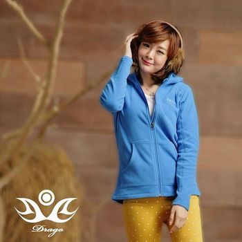 【Drago】刷毛中空保暖纖維連帽外套-雪芙藍  比iPhone還輕的刷毛外套!
