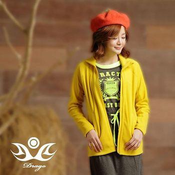 【Drago】刷毛中空保暖纖維連帽外套-芥末黃  比iPhone還輕的刷毛外套!