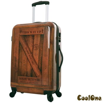 CoolOne 仿復古大木箱24吋 PC 亮面旅行箱