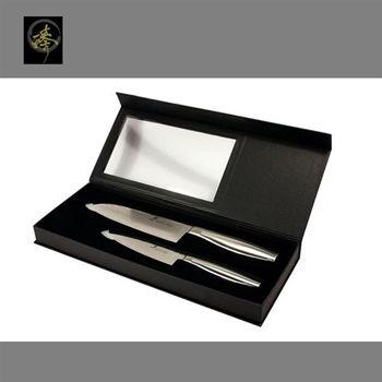 臻 刀具 / 大馬士革鋼系列-萬用廚師刀組(不鏽鋼柄) -DC92-2M SET