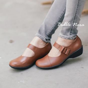 Bubble Nara 波波娜拉~布朗尼厚片氣墊鞋棕色(深),MIT 厚底氣墊鞋