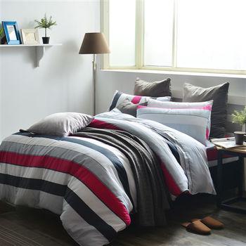 【美夢元素】多彩季節 精梳棉雙人加大四件式 全鋪棉兩用被床包組