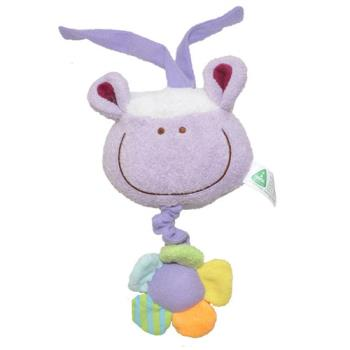 可愛大頭動物安撫音樂床掛拉鈴【紫色羊】