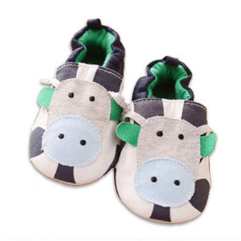 純棉軟底防滑嬰兒學步鞋【2雙入】-小牛+隨機一雙